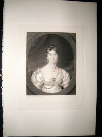 Aft Thomas Lawrence 1841 Folio Mezzotint. Duchess of Gloucester, Pretty Lady | Albion Prints